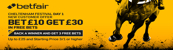 Bet £10, Get £30 in Free Bets + 3 Free Bets when you back a winner