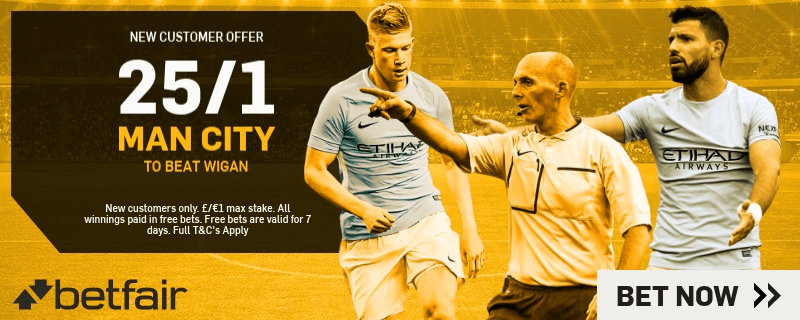 FA Cup Enhanced Odds - 25/1 Man City To Beat Wigan