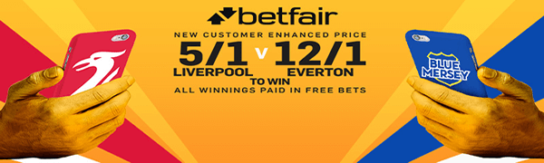 Merseyside Derby Enhanced Odds - Liverpool 5/1 Or Everton 12/1