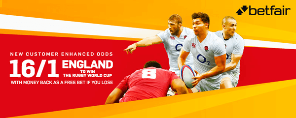 16/1 England To Win The Rugby World Cup