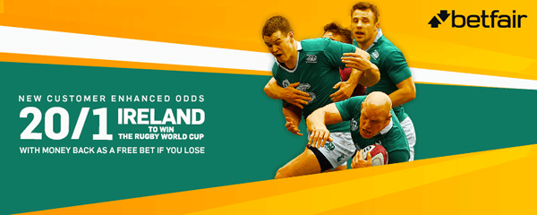 20/1 Ireland To Win The Rugby World Cup