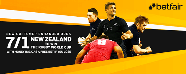 7/1 New Zealand To Win The Rugby World Cup