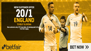 20/1 England To Beat Slovenia