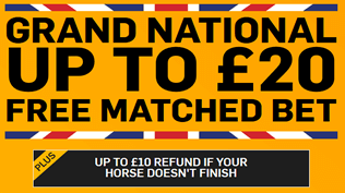 The Grand National - Paying 5 Places AND £20 Free Bet