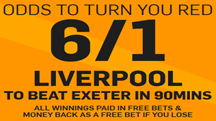 6/1 Liverpool To Beat Exeter