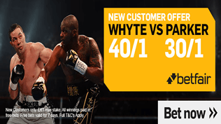 Boxing Enhanced Odds - 40/1 Whyte v 30/1 Parker