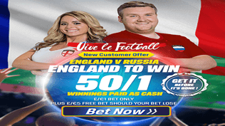 England 50/1 To Beat Russia