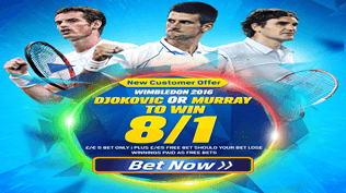 Wimbledon 2016 - Djokovic OR Murray To Win 8/1