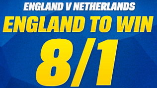 England 8/1 To Beat Netherlands