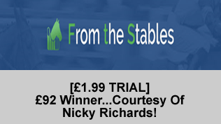 [£1.99 TRIAL] £92 Winner...Courtesy Of Nicky Richards!