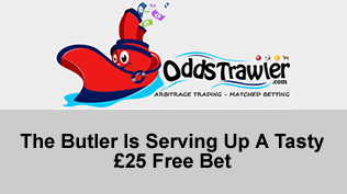 The Butler Is Serving Up A Tasty £25 Free Bet