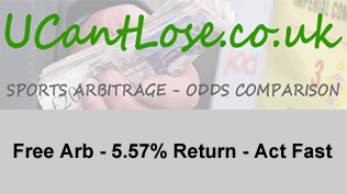 Free Arb - 5.57% Return - Act Fast
