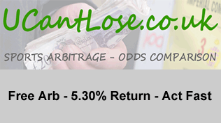 Free Arb - 5.30% Return - Act Fast