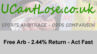Free Arb - 2.44% Return - Act Fast