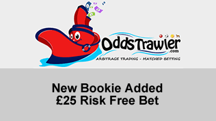 New Bookie Added - £25 Risk Free Bet
