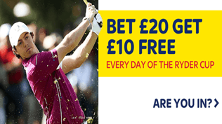 Bet £20 Get £10 Every Day Of The Ryder Cup