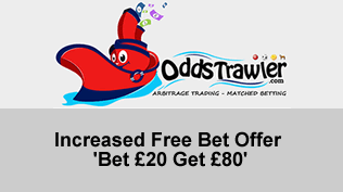 Increased Free Bet Offer - 'Bet £20 Get £80'