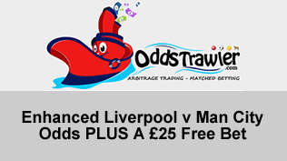 Enhanced Liverpool v Man City Odds PLUS A £25 Free Bet