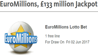 EuroMillions - £133 Million Jackpot - Claim Your Free Bet