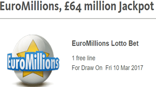 EuroMillions - £64 Million Jackpot - Claim Your Free Bet