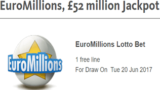 EuroMillions - £52 Million Jackpot - Claim Your Free Bet