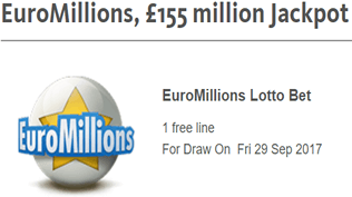 EuroMillions - £155 Million Jackpot - Claim Your Free Bet