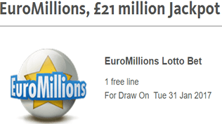 EuroMillions - £21 Million Jackpot - Claim Your Free Bet