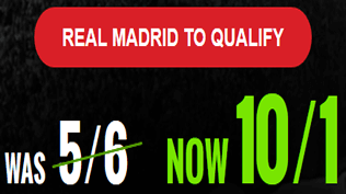 PRICE BOOST - Real Madrid 10/1 To Qualify