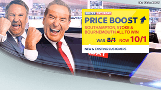 Soccer Saturday Price Boost - Southampton, Stoke & Bournemouth - Was 8/1...NOW 10/1!