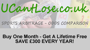 UCantLose Arb Alerts - Buy One Month - Get A Lifetime Free - SAVE £300 EVERY YEAR!