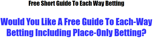 Download Your Free Each Way Betting Guide
