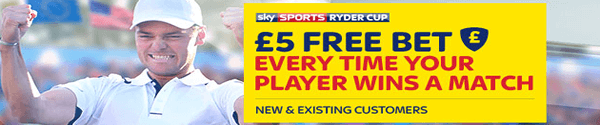 [ONLY 2 HOURS LEFT] Free £5 Ryder Cup Bets
