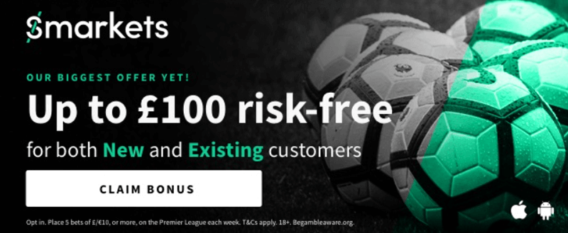 Biggest Offer Yet - Up To £100 Risk Free