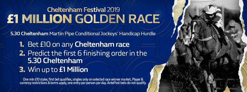 Cheltenham Day Four - Golden Race - Win £1,000,000 - FREE ENTRY
